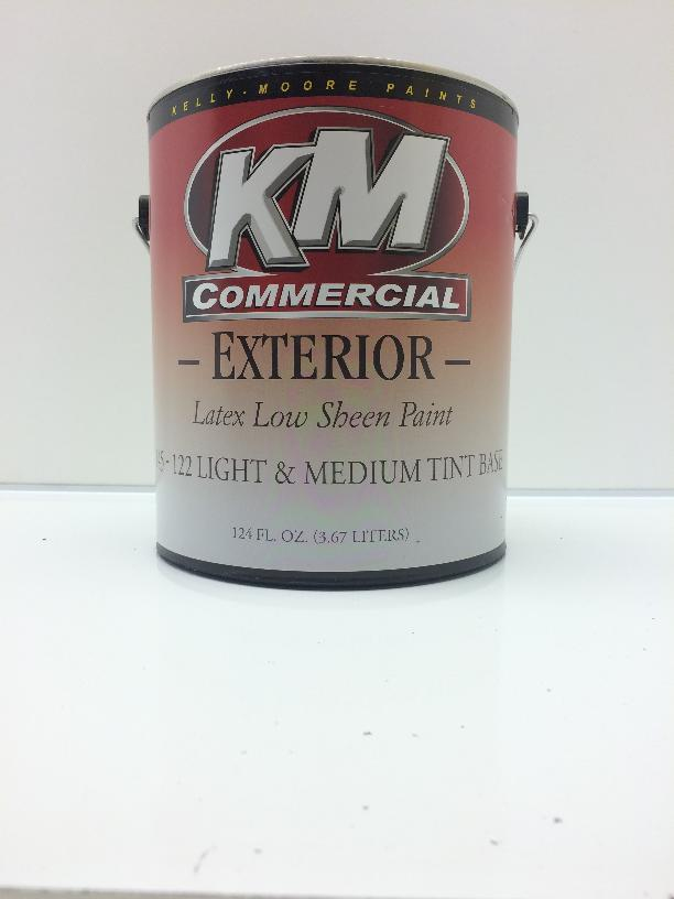 All color paint co kelly moore commercial exterior low sheen 1g for What sheen for exterior house paint