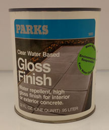 All Color Paint Co Parks Concrete Clear Gloss Finish 1885